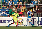 FK Trakai v St Johnstone…06.07.17… Europa League 1st Qualifying Round 2nd Leg, Vilnius, Lithuania.<br />Maksim Maksimov scores<br />Picture by Graeme Hart.<br />Copyright Perthshire Picture Agency<br />Tel: 01738 623350  Mobile: 07990 594431