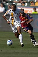 Kyle Veris dribbles. The Los Angeles Galaxy defeated Real Salt Lake, 3-2, at the Home Depot Center in Carson, CA on Sunday, June 17, 2007.