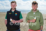 Enjoying their ice creams on Banna beach on Sunday, l to r: Jason Drought and John Roche