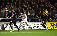 Pictured: Àngel Rangel of Swansea City in action <br /> Re: Coca Cola Championship, Swansea City Football Club v Queens Park Rangers at the Liberty Stadium, Swansea, south Wales 21st October 2008.