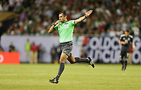 CHICAGO, ILLINOIS - JULY 07: Mario Escobar during the 2019 CONCACAF Gold Cup Final match between the United States and Mexico at Soldier Field on July 07, 2019 in Chicago, Illinois.