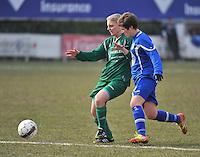 AA Gent Ladies - Lommel : duel met Annelien Van Gansbeke (rechts)<br /> foto DAVID CATRY / Nikonpro.be