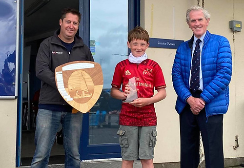 Olin Bateman (RCYC) with Gary Cullen (Provident CRM) and Neil Murphy (Vice Commodore Howth Yacht Club)