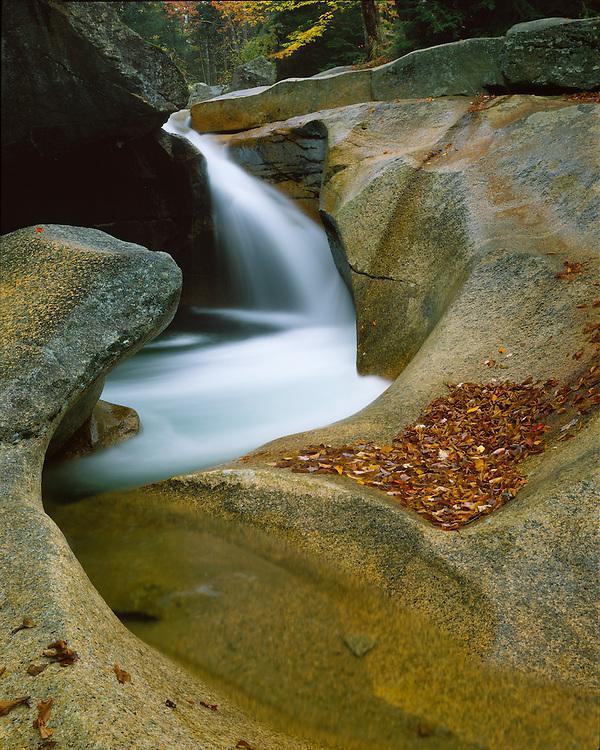 Waterfall at the Basin; Franconia Notch State Park, NH