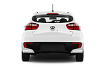 Straight rear view of 2017 KIA Rio LX 5 Door Hatchback Rear View  stock images