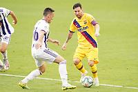Real Valladolid's Fede San Emeterio (l) and FC Barcelona's Leo Messi during La Liga match. July 11,2020. (ALTERPHOTOS/Acero)<br /> 11/07/2020<br /> Liga Spagna 2019/2020 <br /> Valladolid - Barcelona <br /> Foto Alterphotos / Insidefoto <br /> ITALY ONLY
