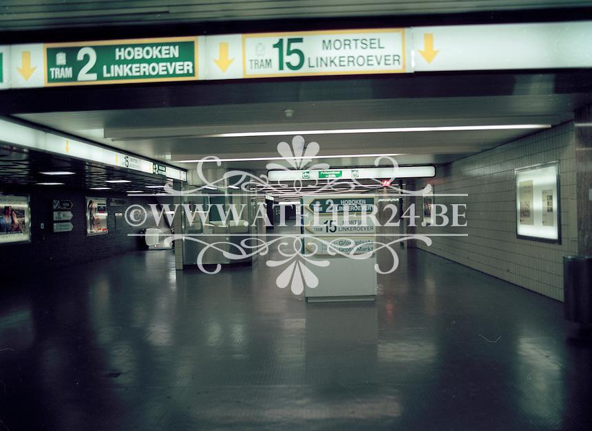 Juli 1994. Metro in Antwerpen.