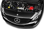 Car Stock 2017 Mercedes Benz Citan Perfect-Tool 5 Door Cargo Van Engine  high angle detail view