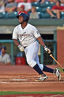 Huntsville Stars designated hitter Jason Rogers #7 swings at a pitch during the Southern League All Star game at AT&T Field on June 17, 2014 in Chattanooga, Tennessee. The Southern Division defeated the Northern Division 6-4. (Tony Farlow/Four Seam Images) The Southern Division defeated the Northern Division 6-4. (Tony Farlow/Four Seam Images)
