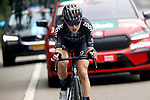 Michael Storer (AUS) Team DSM attacks during Stage 18 of La Vuelta d'Espana 2021, running 162.6km from Salas to Alto del Gamoniteiru, Spain. 2nd September 2021.    <br /> Picture: Luis Angel Gomez/Photogomezsport   Cyclefile<br /> <br /> All photos usage must carry mandatory copyright credit (© Cyclefile   Luis Angel Gomez/Photogomezsport)