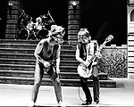 Ozzy Osbourne 1981 with Randy Rhoads rehearsal at San Bernardino Swing Auditorium<br /> © Chris Walter