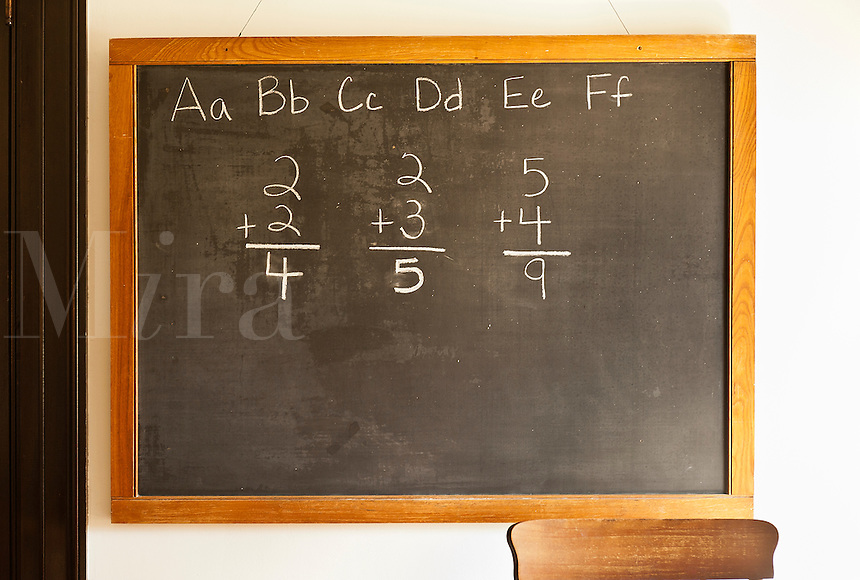 Traditional classroom black board.