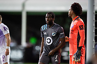 LAKE BUENA VISTA, FL - AUGUST 06: Kevin Molino #7 of Minnesota United FC waits for the corner during a game between Orlando City SC and Minnesota United FC at ESPN Wide World of Sports on August 06, 2020 in Lake Buena Vista, Florida.
