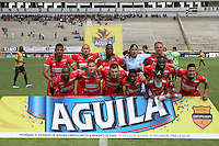 TUNJA -COLOMBIA, 01-03-2015: Jugadores de Patriotas FC posan para una foto previo al partido contra Aguilas Pereira por la fecha 7 de La Liga Aguila I 2015 jugado en el estadio La Independencia de la ciudad de Tunja. / Players of Patriotas FC  pose to a photo prior the match against Aguilas Pereira for the 5th date of La Liga Aguila I 2015 played at La Independence stadium in Tunja. Photo: VizzorImage / Cesar Melgarejo A  / Cont