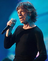 Mick Jagger, lead singer of The Rolling Stones, is seen at a sold out concert in Macau, China, 09 March 2014. The show, which forms part of the '14 On Fire' tour, claims to be the biggest rock gig the small ex-Portuguese enclave in southern China has ever seen, with VIP packages to see the rock gods retailing online for around 14,800 Hong Kong dollars (Euro 1,375.00). The last time The Rolling Stones visited southern China was just over a decade ago for two sold out concerts in Hong Kong in 2003. The Rolling Stones '14 On Fire' tour will visit Abu Dhabi, Japan, Macau, Shanghai, Singapore, Australia and New Zealand.