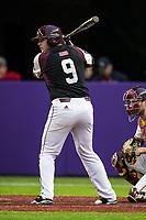 Missouri State Bears third baseman Jake Burger (9) at bat during a game against the Minnesota Golden Gophers on March 11, 2017 at U.S. Bank Stadium in Minneapolis, Minnesota. (Brace Hemmelgarn/Four Seam Images)