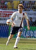Bobby Convey eyes the ball during a USA vs Brazil international friendly which Brazil won, 4-2, at Soldier Field, Chicago, IL on September 9, 2007.