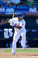 New York Mets outfielder Marlon Byrd #6 during an exhibition game against the Michigan Wolverines at Tradition Field on February 24, 2013 in St. Lucie, Florida.  New York defeated Michigan 5-2.  (Mike Janes/Four Seam Images)