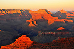 Sunset on the Grand Canyon at Mather Point.