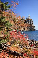 """Autumn Shoreline at Split Rock Lighthouse""<br /> <br /> Lake Superior's rocky shoreline at Split Rock Lighthouse is adorned with autumn's vibrant pallette."