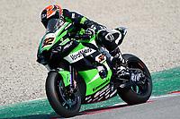 31st  March 2021; Barcelona, Spain; World Superbike testing at Circuit Barcelona-Catalunya;   Isaac Vinales (ESP) riding Kawasaki ZX 10RR for Orelac Racing Verdnatura