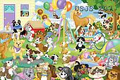 Janet, CUTE ANIMALS, puzzle, paintings(USJS207,#AC#) illustrations, pinturas, rompe cabeza