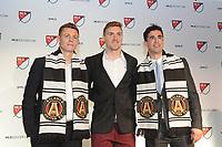 Philadelphia, PA - Thursday January 19, 2018: Gordon Wild, Julian Gressel, Oliver Shannon during the 2018 MLS SuperDraft at the Pennsylvania Convention Center.