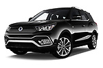 Stock pictures of low aggressive front three quarter view of a 2017 Ssangyong XLV Sapphire 5 Door SUV