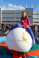 Pictured: Nine year old Eleri Thomas from Baglan. Saturday 13 October 2012<br /> Re: Swansea City FC family day out on the grounds of the Liberty Stadium, south Wales.