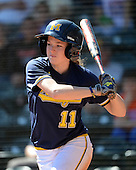 Michigan Wolverines Softball outfielder Lyndsay Doyle (11) at bat during a game against the Bethune-Cookman on February 9, 2014 at the USF Softball Stadium in Tampa, Florida.  Michigan defeated Bethune-Cookman 12-1.  (Copyright Mike Janes Photography)