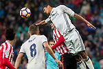 Atletic de Bilbao's Aymeric Laporte and Real Madrid's Raphael Varane during the match of La Liga between Real Madrid and Athletic Club at Santiago  Bernabeu Stadium in Madrid, Spain. October 23, 2016. (ALTERPHOTOS/Rodrigo Jimenez)