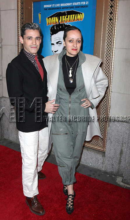 Ruben Toledo & Isabel Toledo.attending the Broadway Opening Night Performance of  'Ghetto Klown'  at the Lyceum Theatre in New York City.