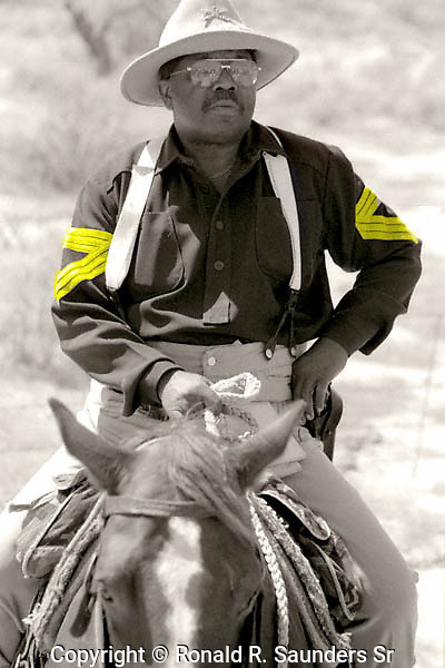 MEMBER of the 9th MEMORIAL CAVALRY on SYMBOLIC RE-ENACTMENT RIDE FROM PHOENIX, AZ to NEW ORLEANS, LA
