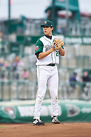 Fort Wayne TinCaps starting pitcher Joey Cantillo (22) during a Midwest League game against the Quad Cities River Bandits at Parkview Field on May 3, 2019 in Fort Wayne, Indiana. Quad Cities defeated Fort Wayne 4-3. (Zachary Lucy/Four Seam Images)
