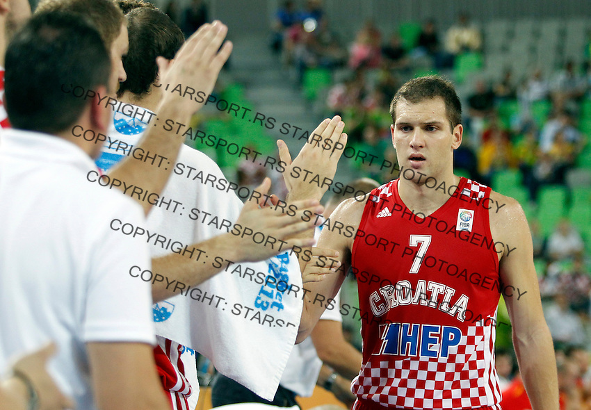 "Bojan Bogdanovic of Croatia during European basketball championship ""Eurobasket 2013""  basketball game for 3rd place between Spain and Croatia in Stozice Arena in Ljubljana, Slovenia, on September 22. 2013. (credit: Pedja Milosavljevic  / thepedja@gmail.com / +381641260959)"