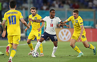 3rd July 2021, Rome, Italy;  Raheem Sterling of England controls the ball during the UEFA EURO 2020 quarterfinal match between England and Ukraine in Rome, Italy on July 3