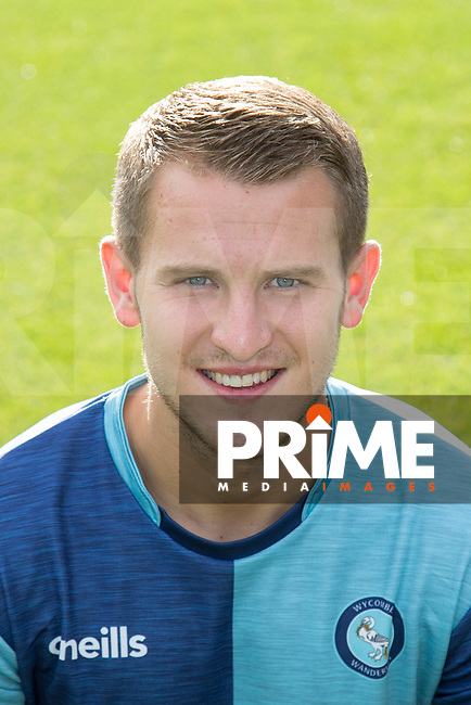 Bryn Morris (on loan from Shrewsbury Town) of Wycombe Wanderers headshot during the Carabao Cup match between Wycombe Wanderers and Northampton Town at Adams Park, High Wycombe, England on 14 August 2018. Photo by Andy Rowland.