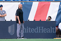 FOXBOROUGH, MA - JUNE 26: Clint Peay New England Revolution II coach during a game between North Texas SC and New England Revolution II at Gillette Stadium on June 26, 2021 in Foxborough, Massachusetts.