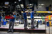 TURKEY Sakarya, Tirsan Treyler, production of truck trailer in factory in Adapazari / TUERKEI, Adapazari, Tirsan Trailer Fabrik, Herstellung von Trailern fuer LKW