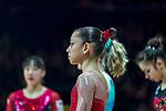 Gymnastics World Cup  23.3.19. World Resorts Arena. Birmingham UK.   Carolann Heduit (FRA) in action