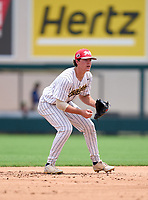 St. Thomas Aquinas Raiders Jimmy Thies (6) during the 42nd Annual FACA All-Star Baseball Classic on June 5, 2021 at Joker Marchant Stadium in Lakeland, Florida.  (Mike Janes/Four Seam Images)