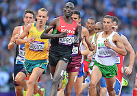 August 05, 2012..Asbel Kiprop leads during Men's 1500m Semifinal at the Olympic Stadium on day nine of 2012 Olympic Games in London, United Kingdom.
