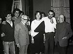 GIAN CARLO PAJETTA E SANDRO PERTINI CON VITTORIO GASSMAN -  TEATRO QUIRINO ROMA 1980
