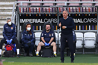 5th September 2020; PTS Academy Stadium, Northampton, East Midlands, England; English Football League Cup, Carabao Cup, Northampton Town versus Cardiff City; Northampton Town Manager Keith Curle gives the thumbs up to his players