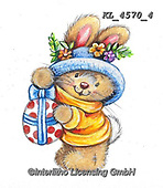 EASTER, OSTERN, PASCUA, paintings+++++,KL4570/4,#e#, EVERYDAY ,rabbit,rabbits ,sticker,stickers