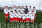 The Iveragh United side who defeated Listowel Celtic 3-0 in Cahersiveen on Saturday were front l-r' Jamie Gleason, Rory Dennehy, Brian Quinlan, Emmett Daly(1), Zach Fayen, Darren Reardon, back l-r; Padraig Mangan, Kieran O'Donnell, John O'Driscoll, Be Egan(2), Darren O'Donoghue, Aaron Galvin, Donnagh Shine & Ben O'Donoghue, Manager Alan Egan.