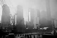 USA. Manhattan. 20th January 2009.World Trade Center site, Manhattan..©Andrew Testa