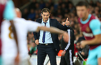 West Ham United manager Slaven Bilic gives a thumbs up during the Barclays Premier League match between Swansea City and West Ham United played at The Liberty Stadium, Swansea on 20th December 2015