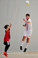 Aiden Hemming of Hamilton Boys' High School in action during the Futsal NZ Secondary Schools Junior Boys Final between Hamilton Boys High School and Selwyn College at ASB Sports Centre, Wellington on 26 March 2021.<br /> Copyright photo: Masanori Udagawa /  www.photosport.nz