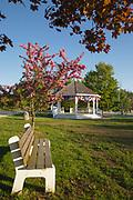 The Town Common in Hampton Falls, New Hampshire USA